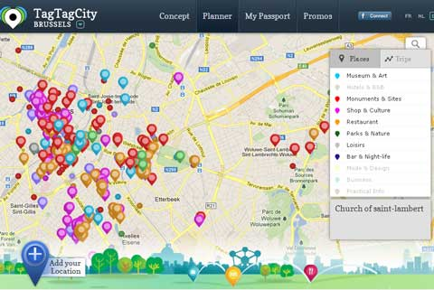 TagTagCity interactive map
