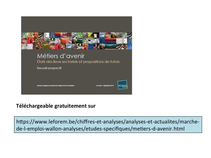 Métiers d'avenir - Présentation FOREM 2014